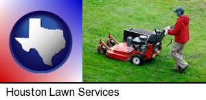 Houston, Texas - a lawn mowing service
