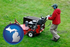 michigan a lawn mowing service